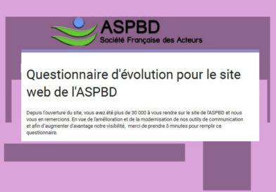Questionnaire d'évolution pour le site web de l'ASPBD